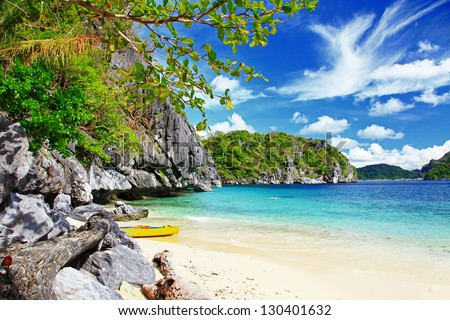 escape to tropical  paradise - stock photo