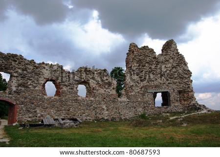 Estonia. Laiuse. Ruins of a castle . 15 century