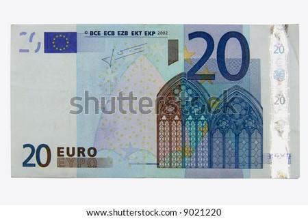 20 euro - stock photo