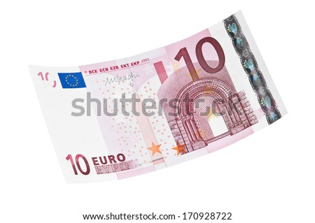 10 euro banknote - stock photo
