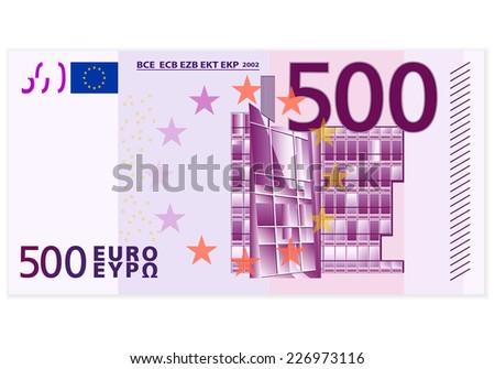 500 euro banknote illustration. - stock photo