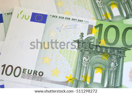 100 Euro Banknotes Close European Money Stock Photo Royalty Free