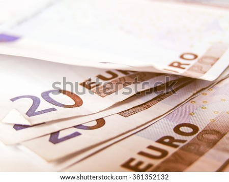 Euro banknotes money picture vintage