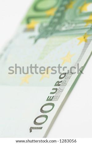 100 euro close up - stock photo