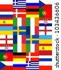 16 Europe National flag Pattern background - stock