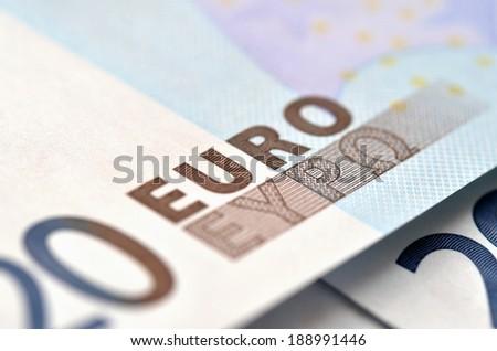 20 euros - stock photo