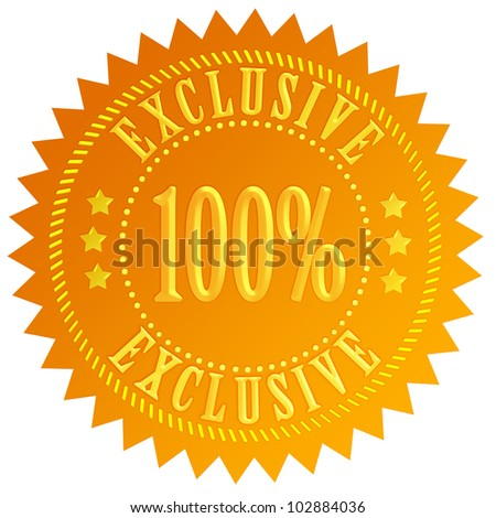 100 exclusive icon - stock photo