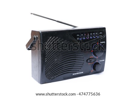 eye radio with aerial on white background