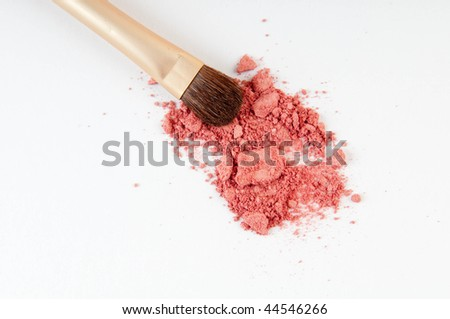 Eye shadow with brush on white