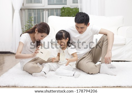 Family doing savings	 - stock photo