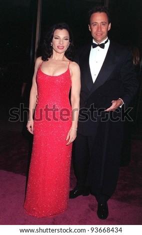 20FEB97: Actress FRAN DRESCHER & husband at the American Film Institute gala honoring director Martin Scorsese.     Pix: PAUL SMITH - stock photo