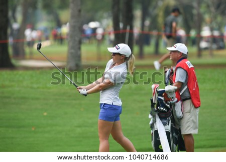 22-25 FEBRUARY 2018, Siam Country Club, Pattaya, Old Course, Thailand:Jodi ewart shadoff of england  in action during Honda LPGA