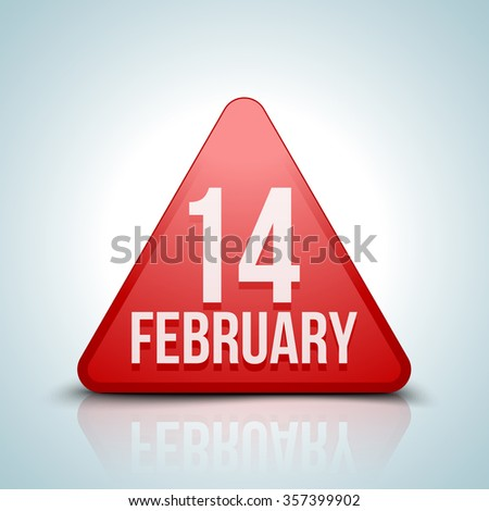 14 february sign - stock photo