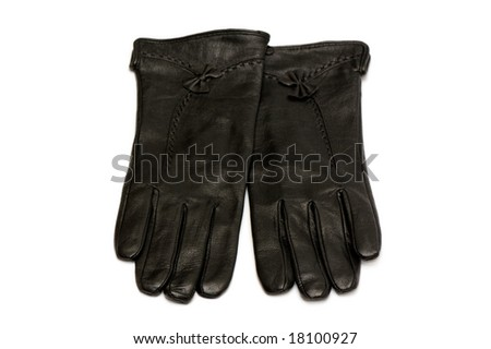 Female gloves isolated on a white background