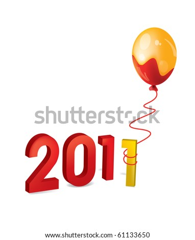 2011 figures new year Balloon shell occurrence christmas logo