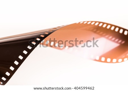 Film strip isolated with white background. - stock photo