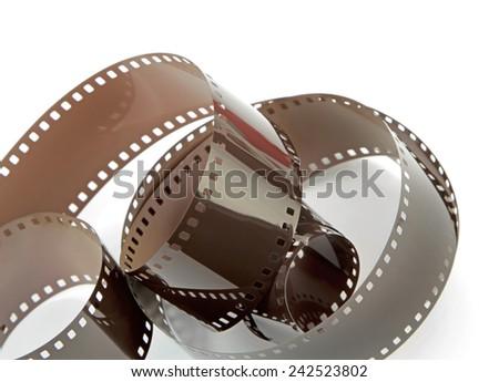 Film strip on white background. - stock photo