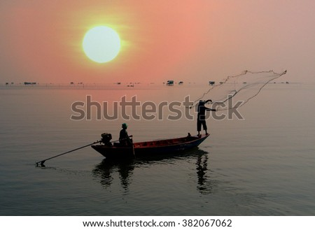 fisheries management means of the fish or other aquatic life. Maintaining fish and processed fish such as fish oil  fishing activities are classified according to the type of fish and on the economy. - stock photo