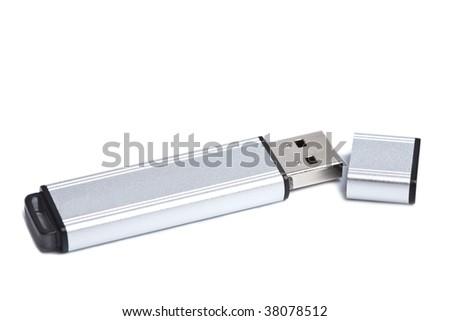flash drive isolated - stock photo