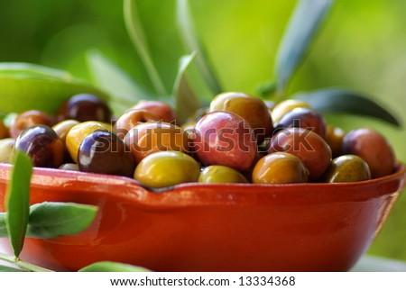 Flavorful traditional olives of Portugal.