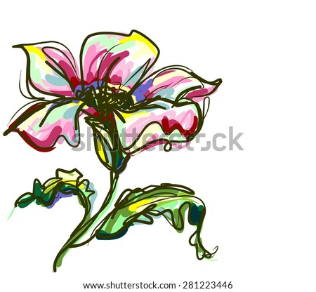 Flower background for design - stock photo