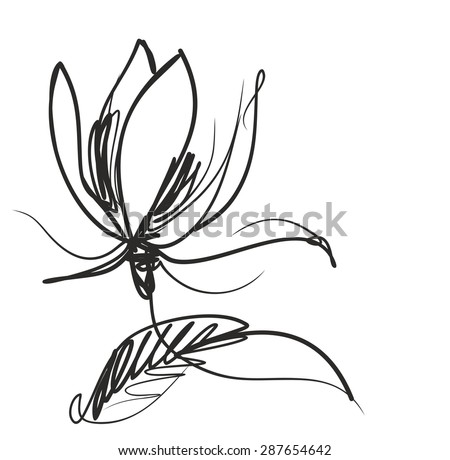 Flower  background for design,