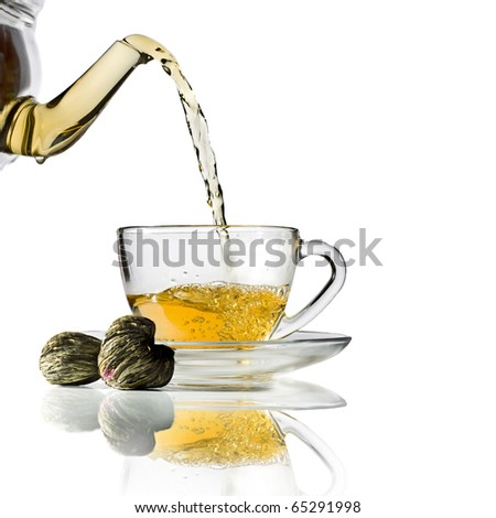 Flower Chinese tea isolated on a white background - stock photo