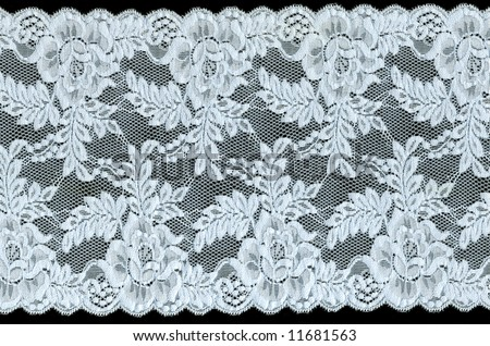 flowered  sky blue lace - stock photo