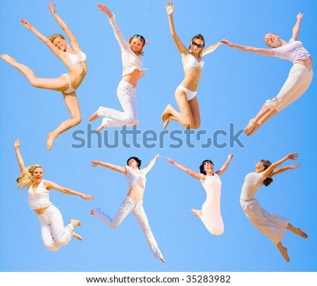 8 Flying angels - Can Be Yours - stock photo