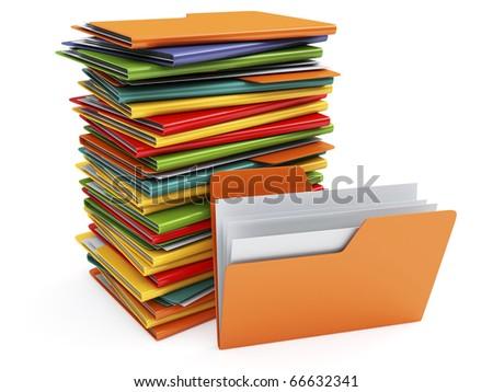Folders - stock photo