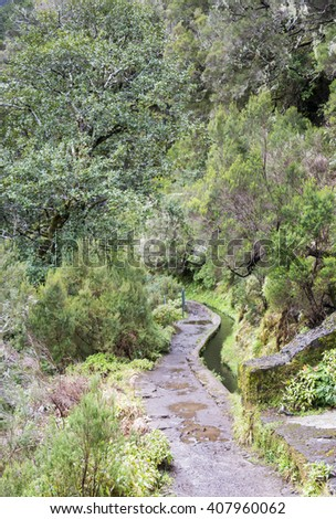 25 fontes levada walk on the portuguese island of Madeira also called flower island