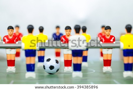 foosball.table  football players - stock photo