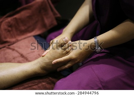 foot massage, Thailand - stock photo
