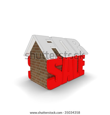 'For Sale' 3d illustration, isolated on a white background.