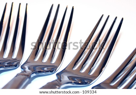 4 Forks - stock photo