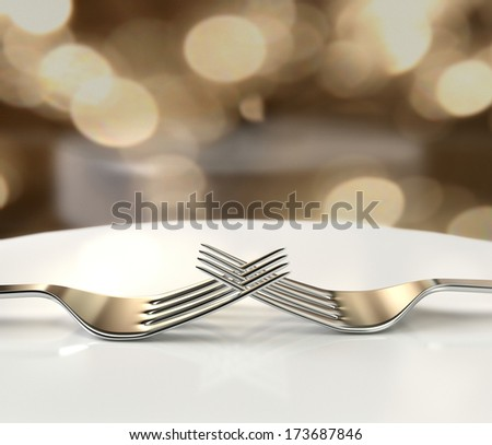 Forks lovers - stock photo