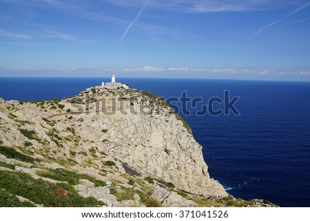 Formentor Lighthouse, Mallorca  - stock photo