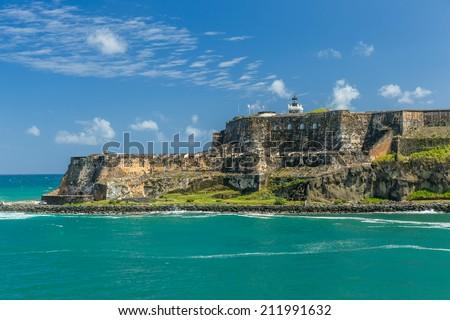 Fort San Felipe del Moro, San Juan Puerto Rico - stock photo