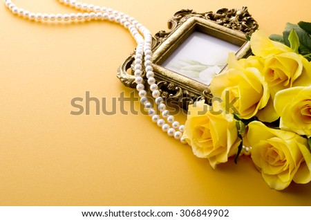 frame and accessories - stock photo