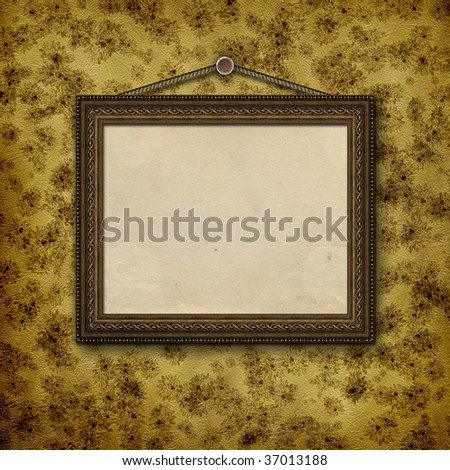 Framework for a photo or letter on the floral background.