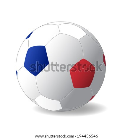 France ball with France flag