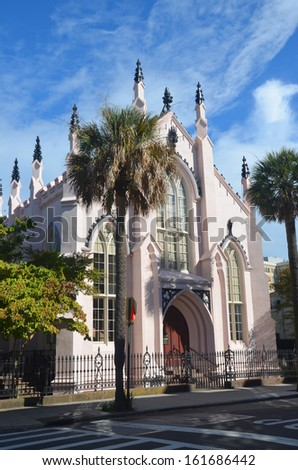French Huguenot Church in Charleston, South Carolina - stock photo
