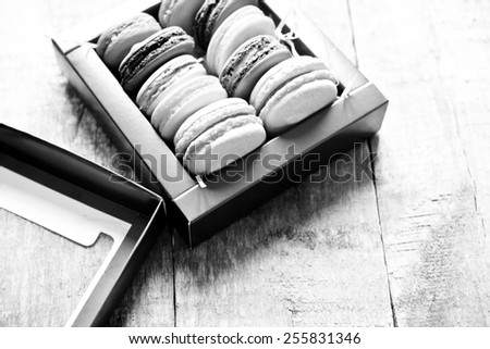 french macaroons - stock photo
