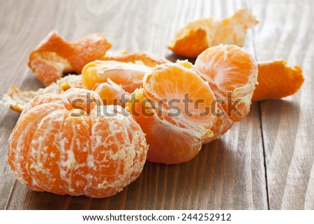 fresh tangerines - stock photo