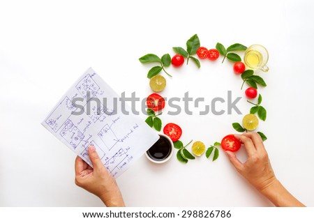 Fresh vegetables on background. - stock photo