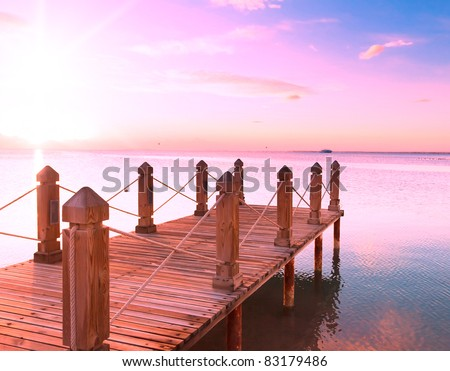 From Sunrise View at Sunset - stock photo