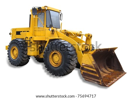 Frontend loader, isolated with shadow and clipping path - stock photo