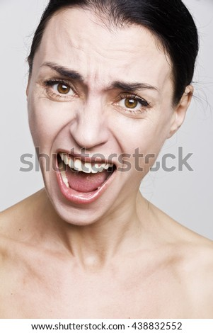 Frustrated and screaming woman