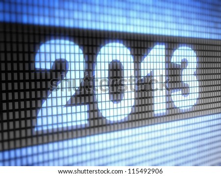 2013 Full collection of icons like that is in my portfolio - stock photo