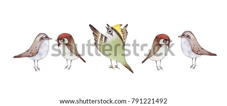 Yellow Headed Bird  Letters